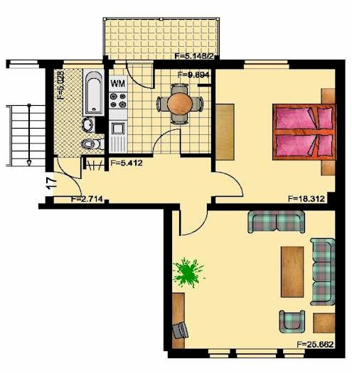 wohnanlage koppenstra e 28. Black Bedroom Furniture Sets. Home Design Ideas